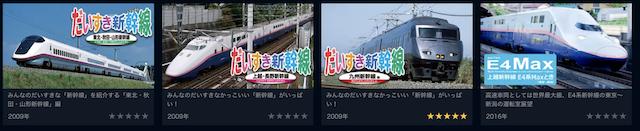 U-NEXT<ユーネクスト>の新幹線の動画