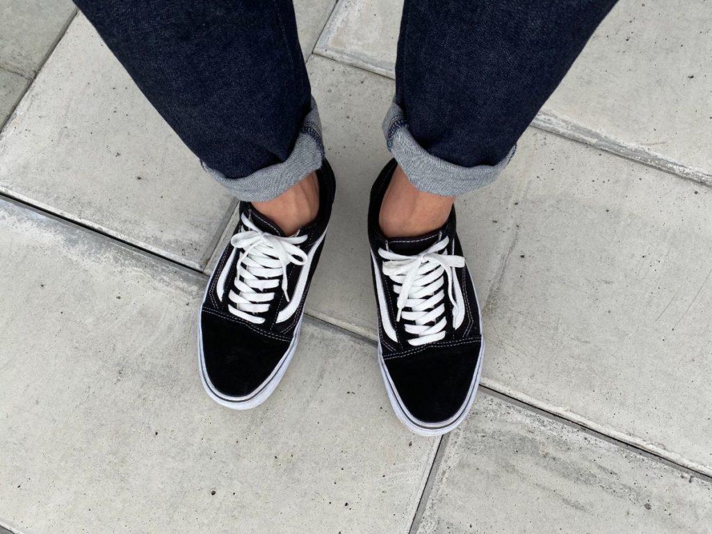 ユニクロ ベリーショートソックス 靴を履いた状態
