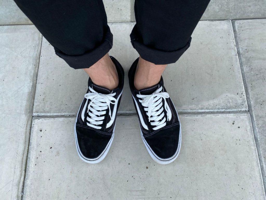 GU カバーソックス 靴を履いた状態 サイド