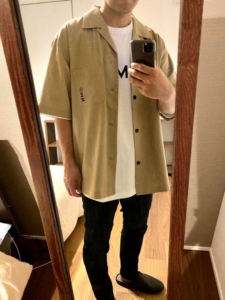 オープンカラーシャツ(5分袖)1MW by SOPH.着画